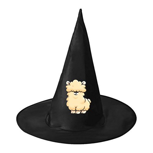 Pictures Halloween Costumes Funniest (Halloween Witch Hat Caps Decorations Llama Adult Womens Black Witch Hat For Halloween Christmas Party Costume)