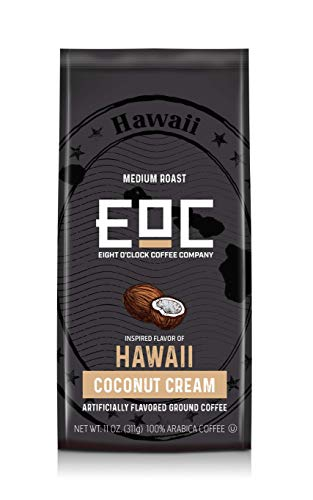 Eight O'Clock Coffee Flavors of America, Hawaii Coconut Cream, 11 Ounce