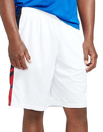 Polo Sport Ralph Lauren Men's Paneled Athletic Gym Shorts (Large, Pure White)