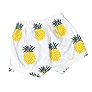 Summer Baby Pineapple Printed Cotton Shorts Harem Pants For 0-4 Years Old (6-12Months, Pineapple)