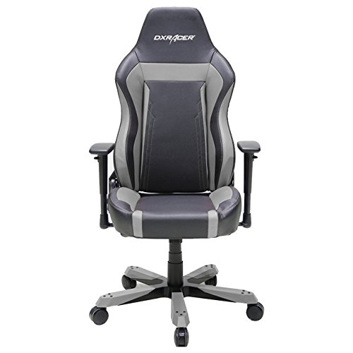 DXRacer OH/WZ06/NG Wide Series Black and Gray Gaming Chair - Includes 2 free cushions and on frame