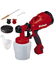 Einhell Verfspuitpistool TC-SY 400 P (400 W, voor kleine en middelgrote werkoppervlakken, voor lakken en glazuren, regeling van de verfhoeveelheid), 800 ml, rood