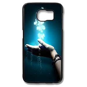 Samsung Galaxy S6 Edge Case - In The Hands Of Creative Effects Slim Bumper Case with Soft Flexible TPU Material for Samsung Galaxy S6 Edge Black