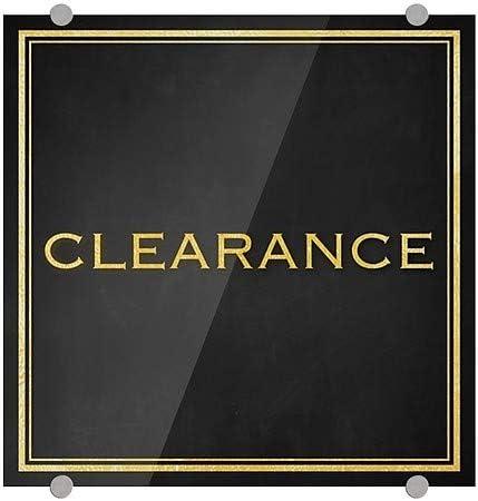 16x16 Classic Gold Premium Acrylic Sign Clearance CGSignLab