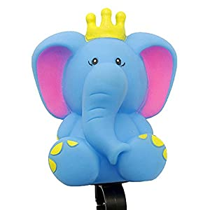 DRBIKE Blue Elephant Bell for Kids Bike, Rubber Bike Horn for Girls & Boys, Cute Bike Squeeze Horn for Kids Tricycle, Walker, Scooter, Kids Bike, Horn Toy for Child