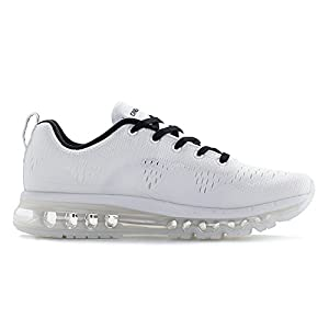 ONEMIX Men's Air Cushion Sports Running Shoes New Wave Casual Walking Sneakers White US 10