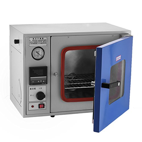 Happybuy 0.9 Cu Ft 23L Vacuum Oven 9℉to 480℉Degassing Drying Oven Vacuum Level: ≤133 Pa (1 mmHg) Drying Sterilizing Oven for Fast and Efficient Drying (23L)