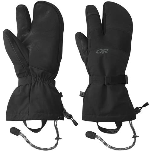 Outdoor Research Men's Highcamp 3-Finger Gloves, Black, ()