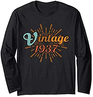 Best Gift 82nd Birthday Gift Vintage 1937 Distressed Retro Design Long Sleeve  Need Funny TShirt / S - 5Xl