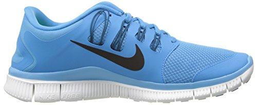 Nike Mens Fria 5.0+ Andas Löparskor Syntetisk Levande Blå / Grön Avgrund / Summit Vit / Svart