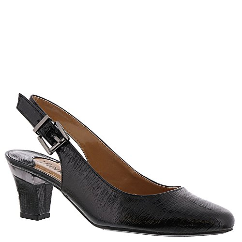 J.Renee Women's Malree Pump, Black, 7 Medium (3 Buckle Black Pump)