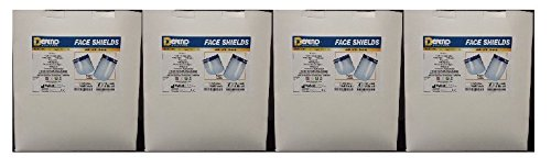 Dental Medical Face Half Shield Mask (4, Boxes of 25 face full shields(total 100 pcs) )