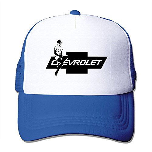CCbros Chevrolet Hot Lady Chevy Logo Trucker Mesh Back Hats Caps One Size Fit All (Teenage Disco Clothes)