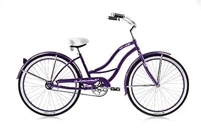 "Micargi Tahiti-F-Pp Women's Cruiser Bikes, 26"", Purple"