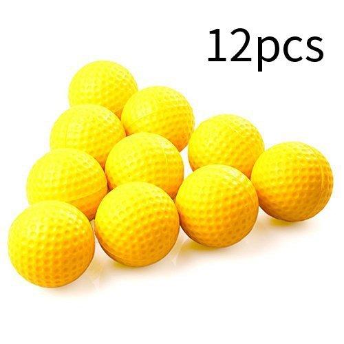Aketek Practice Golf Balls, Foam, 12 Count, Yellow