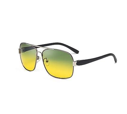 fb2c17f102 GOODLQ Día y Noche de Doble Uso HD visión Nocturna Espejo polarizado Gafas  de Sol Hombre