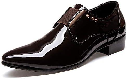Color : Negro, tama/ño : 37 EU HILOTU /¡Despeje!Zapatos de Esmoquin,Zapatos Oxford de Charol para Hombre Punta Estrecha Atan para Arriba Los Zapatos Casuales de La Boda