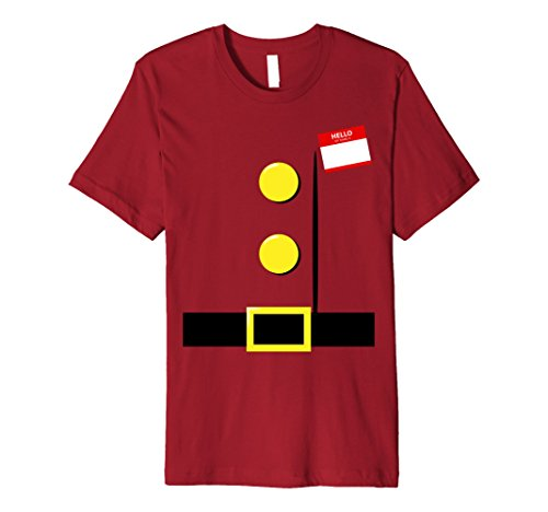 [Mens Dwarf Halloween Group Costume Idea T-Shirt with Name Plaque Large Cranberry] (Cute College Costume Ideas)