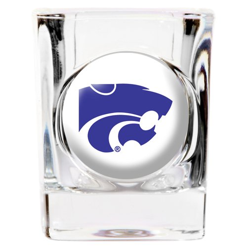 Great American 8900600725 2 oz. Kansas State Wildcats Square Shot Glass