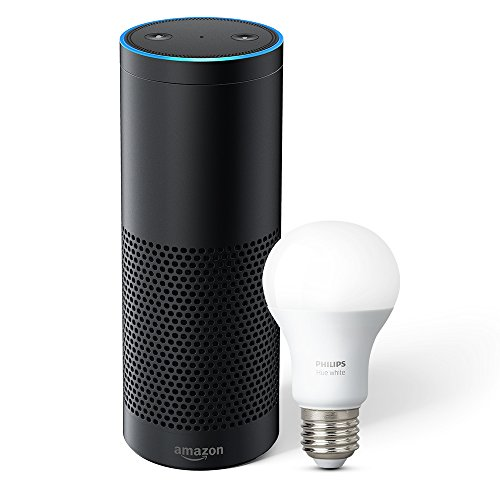 Introducing Echo Plus with built-in Hub – Black + Philips Hue Bulb included