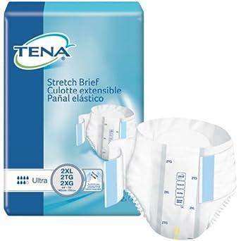 Tena 61390 2XL Stretch Briefs, Ultra Absorbency 64/case