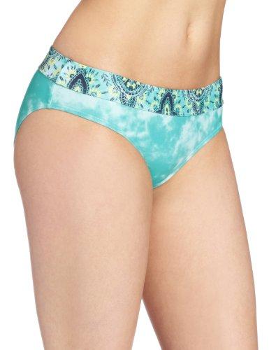prAna Women's Ramba Swimsuit Bottom, X-Large, Turquoise Tie Dye