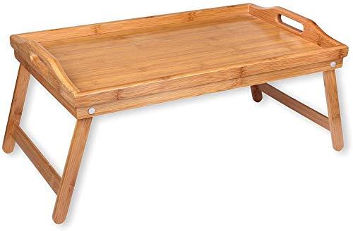 Bandeja desayuno para cama, mesa plegable para cama, bandeja plegable Mesita cama, desayuno Mesa bambu