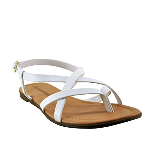 Strappy Classified Spica White Sandals City Slingback White Women's UdIqxnBw