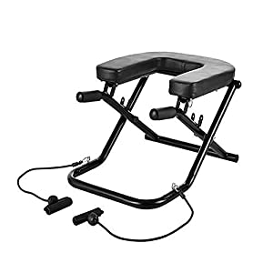2-in-1 Yoga Inversion Chair, Adjustable Yoga Headstand Bench Idea for Workout, Fitness and Gym Restrial Life