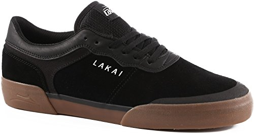 Lakai Staple Skate Shoes - Lakai Staple Black Gum 7.5 Mens Skate Shoes