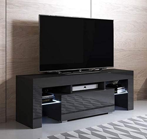 muebles bonitos – Mueble TV Modelo Elio (130x45cm) Color Negro con LED RGB: Amazon.es: Hogar