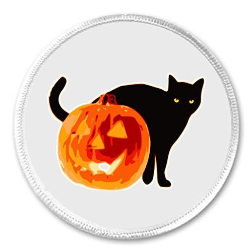 A&T Designs Black Cat with Halloween Pumpkin 3