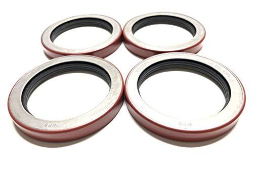 (Pack of 4) Trailer Hub Wheel Unitized Oil Seals WPS (TM) 10-51 (370150BGO) for 9K-10K GD Axles ID 2.875'' x OD 3.880''