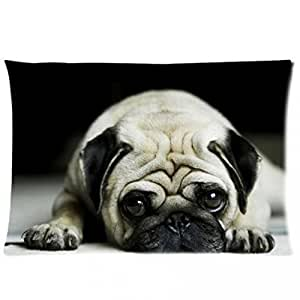 Drunk Love Popular Cool Pug Dog Custom hold Pillow throw Shams 18*18 /20*30 inch (two sides printed) pillowcase