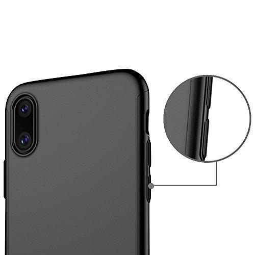 Funda iPhone 8 360 Grados Integral Para Ambas Caras + Protector de Pantalla de Vidrio Templado,[No revelar el logotipo de Apple] [ 360 ° ] [ Armada ] Case / Cover / Carcasa iPhone 8 Oro rosa