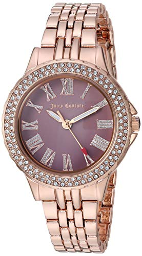 Juicy Couture Black Label Women's  Swarovski Crystal Accented Rose Gold-Tone Bracelet Watch