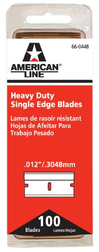(American Safety Razor 66-0448 Heavy-Duty Single Edge Razor Blades, 100-Pack)
