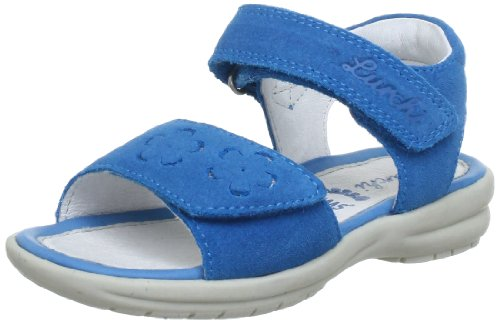 Lurchi Tessa 33-15653 - Sandalias de cuero para niña Azul (Blau (Petrol 42))