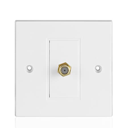 tnp coaxial connector faceplate faceplate wall plate video coax rh amazon co uk F Connector Wall Plate HDMI Wall Plate