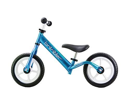 Brilrider Flight AF Kids Balance Bike for 18 Months-5 Year-Olds (Metallic Blue) ()