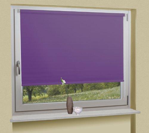 Seitenzugrollo Sichtschutz Rollo Klemmfix Kettenzug ohne Bohren, 60x230 (BxH cm), Lila, 062010