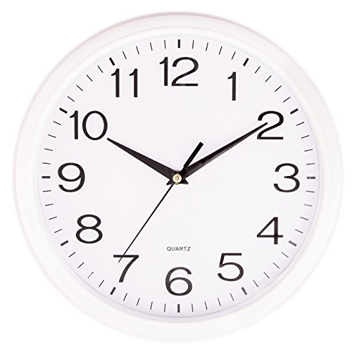 Silver Quartz Quot Silent Tick Quot Wall Clock Ideal For Use In