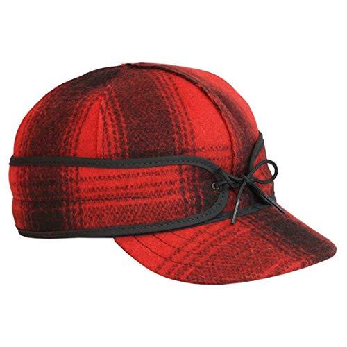 Stormy Kromer Men's Original Wool Cap,7.875, Red Black Plaid