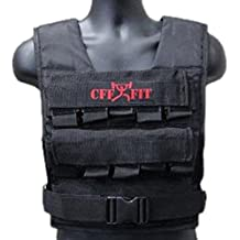 CFF Adjustable Weighted Short Vest 22 Lbs (10 kg) includes extra Vest(shell only) - Great for Cross Training, Running & Fireman Training