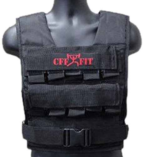 CFF Adjustable Weighted Short Vest 22 Lbs (10 kg) includes extra Vest(shell only) - Great for Cross Training, Running & Fireman Training by CFF