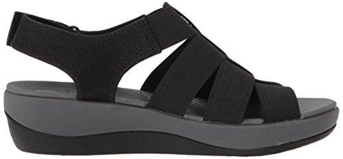 elastic Shaylie Women's Arla Clarks black fabric Sandals Eqxpwn7vCX