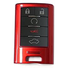 CADILLAC Replacement Smart Remote Key Shell Fob Case Modern Remote Start Key Fob Case Cover Shell Keyless Entry Aftermarket Accessories Holder Skin Protector for CADILLAC CTS CADILLAC STS CADILLAC SRX 4/5/6 BUTTONS