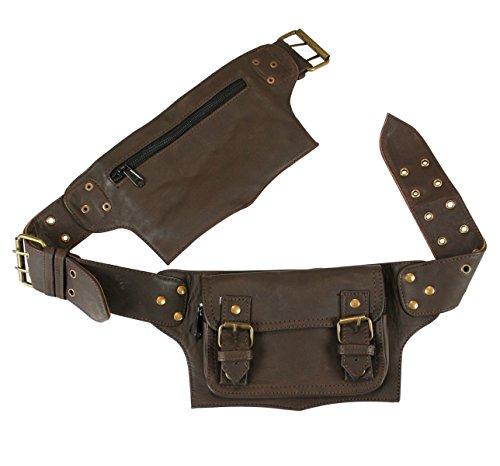 Leather Pocket Belt (Historical Emporium Leather Steampunk Multi Pocket Utility Belt Regular Chocolate)