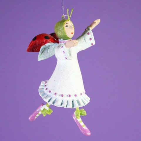 Patience Brewster 12 Days - Day 11 Mini Lady Dancing Christmas Figural Ornament -