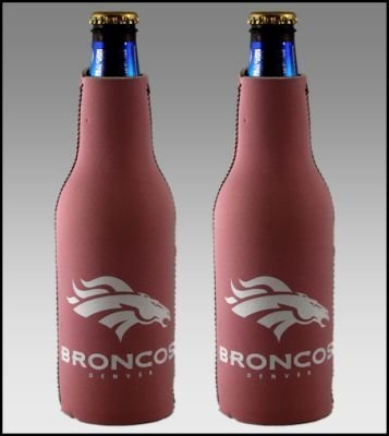 (2) NFL DENVER BRONCOS PINK BOTTLE SUIT KOOZIES For Sale